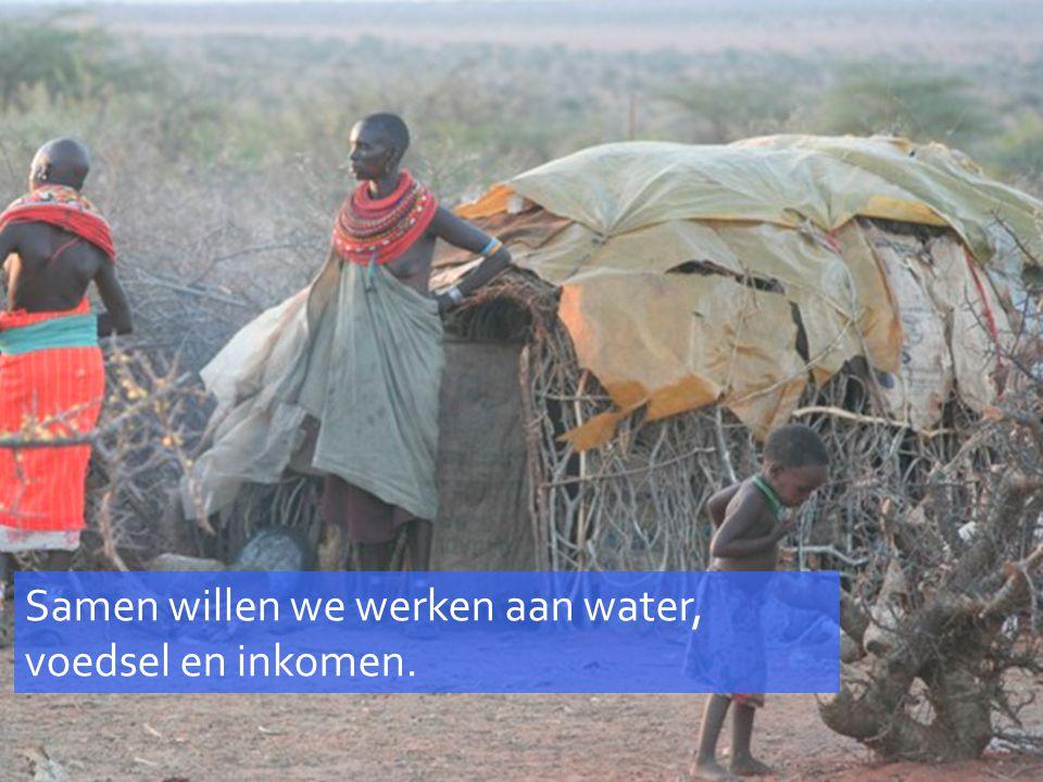 Samen willen we werken aan water, voedsel en inkomen.