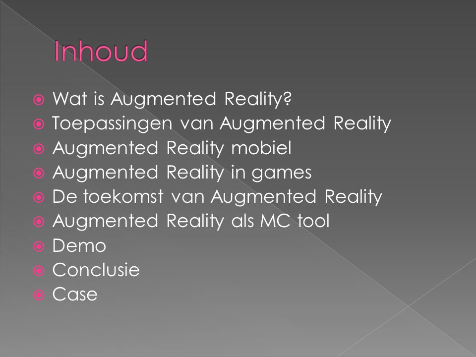  Wat is Augmented Reality.