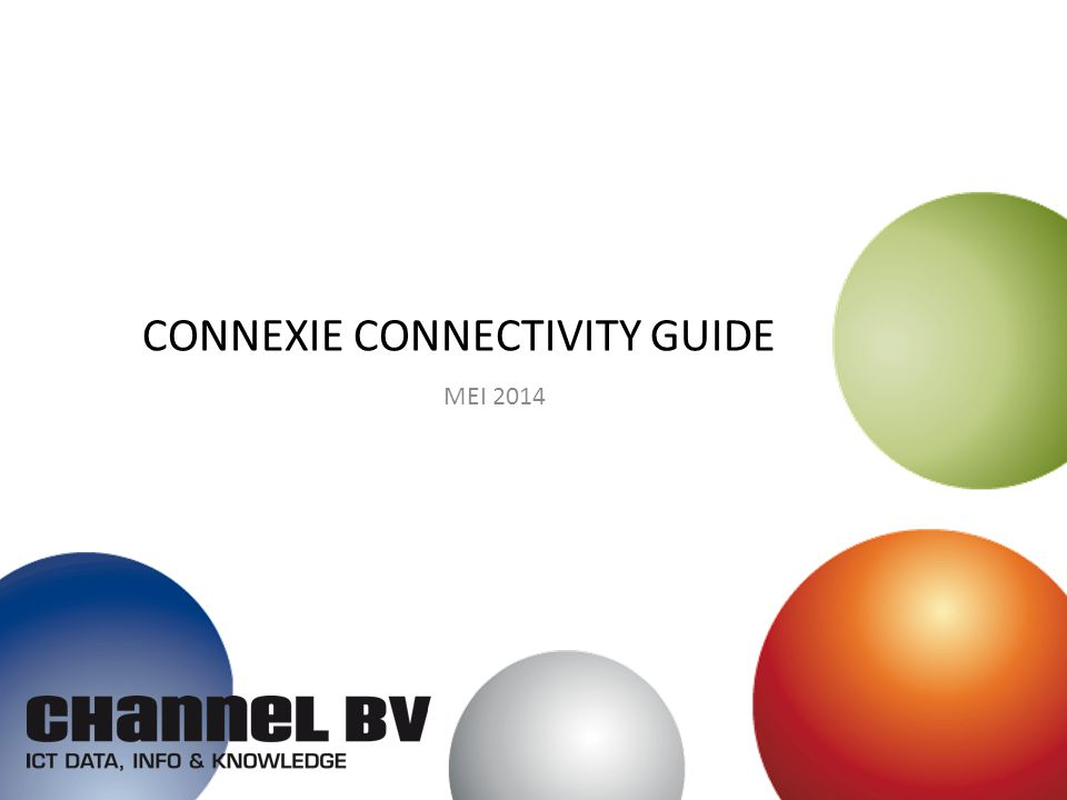 CONNEXIE CONNECTIVITY GUIDE MEI 2014