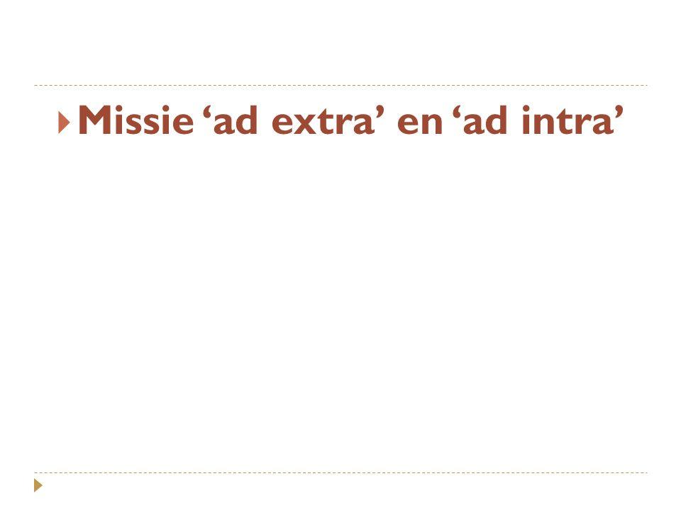  Missie 'ad extra' en 'ad intra'
