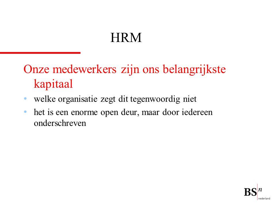 HRM Onze medewerkers zijn ons belangrijkste kapitaal welke organisatie zegt dit tegenwoordig niet het is een enorme open deur, maar door iedereen onderschreven