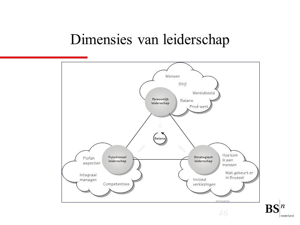 46 Dimensies van leiderschap