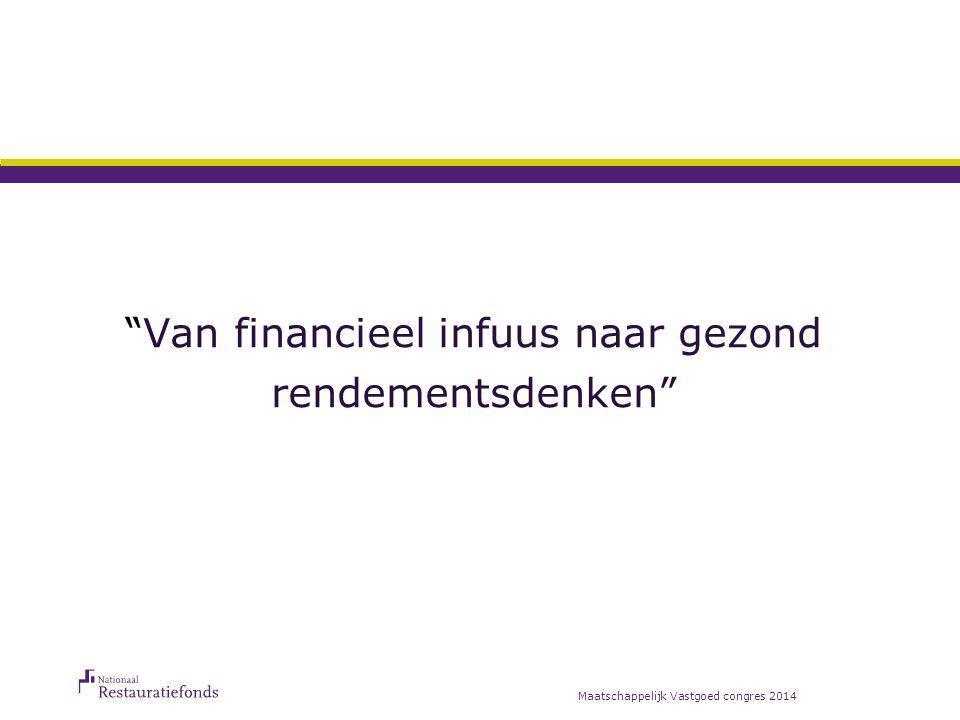 """""""Van financieel infuus naar gezond rendementsdenken"""" Maatschappelijk Vastgoed congres 2014"""