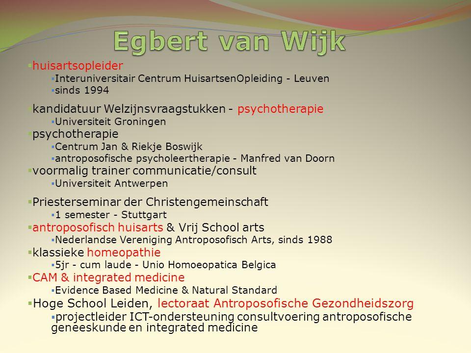  huisartsopleider  Interuniversitair Centrum HuisartsenOpleiding - Leuven  sinds 1994  kandidatuur Welzijnsvraagstukken - psychotherapie  Univers