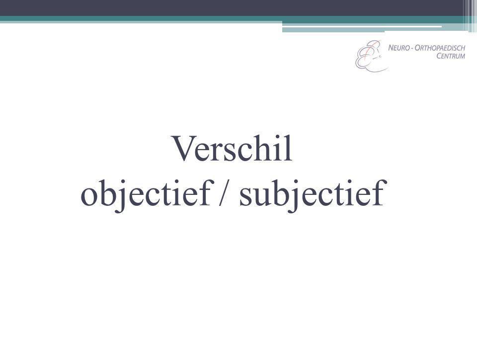 Objectief Volgens Van Dale: Zich bepalende tot de feiten, niet beïnvloed door eigen gevoel of door vooroordelen, voor zover het de feiten betreft.