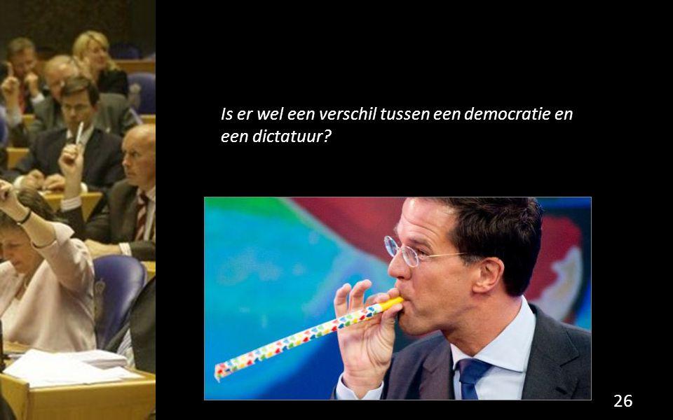 Is er wel een verschil tussen een democratie en een dictatuur? 26