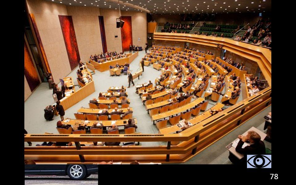 Koninklijke besluiten: besluit waar de Eerste en Tweede Kamer niet over meebeslissen. 78