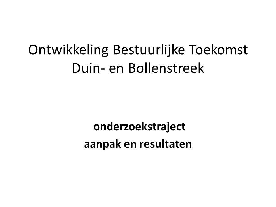 Eerdere rapportages Bestuurlijke Toekomst Noordwijk: een nieuw perspectief Noordwijk, november 2011 Bestuurlijke toekomst Duin-en Bollenstreek Berenschot, 6 juli 2012 De 5 Duin-en Bollengemeenten naar 2030: strategische samenwerkingsafspraken Blaauwberg, 28 februari 2013 Strategische Samenwerking in de Duin-& Bollenstreek: onderzoeksrapport en voorstellen Blaauwberg, 11 juni 2013
