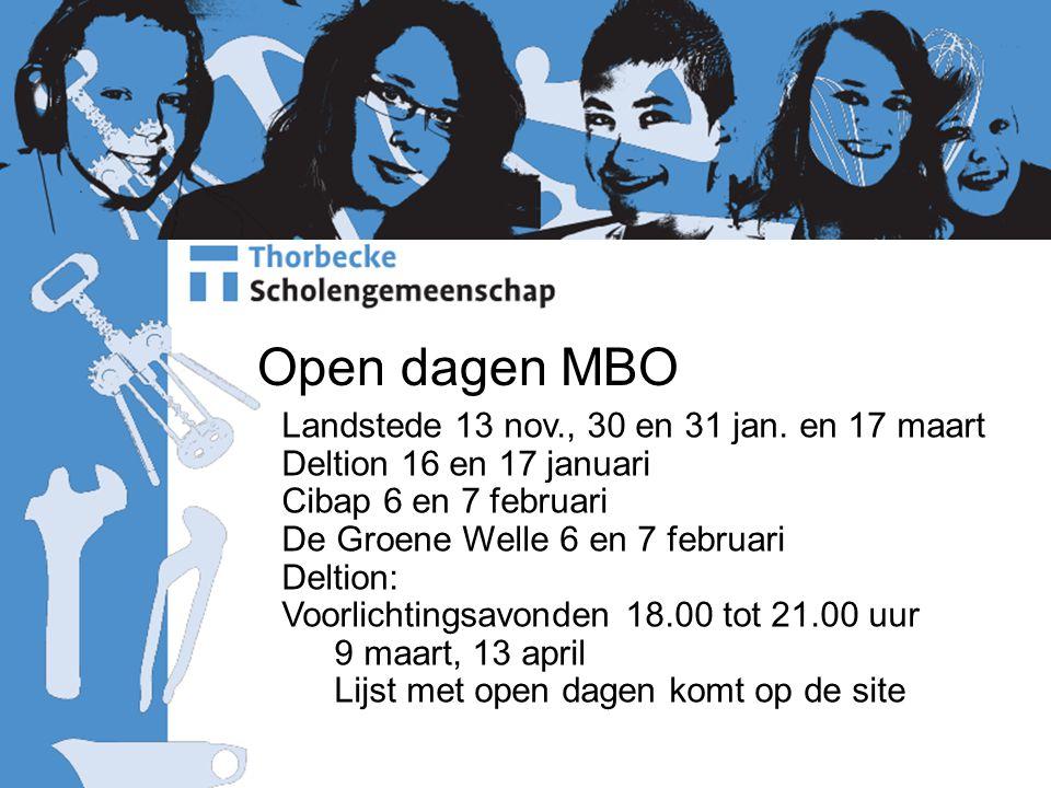 Open dagen MBO Landstede 13 nov., 30 en 31 jan.