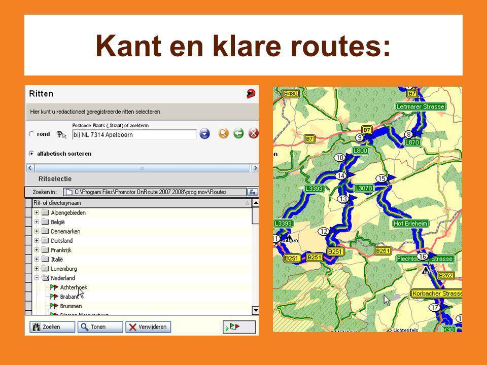 Kant en klare routes: