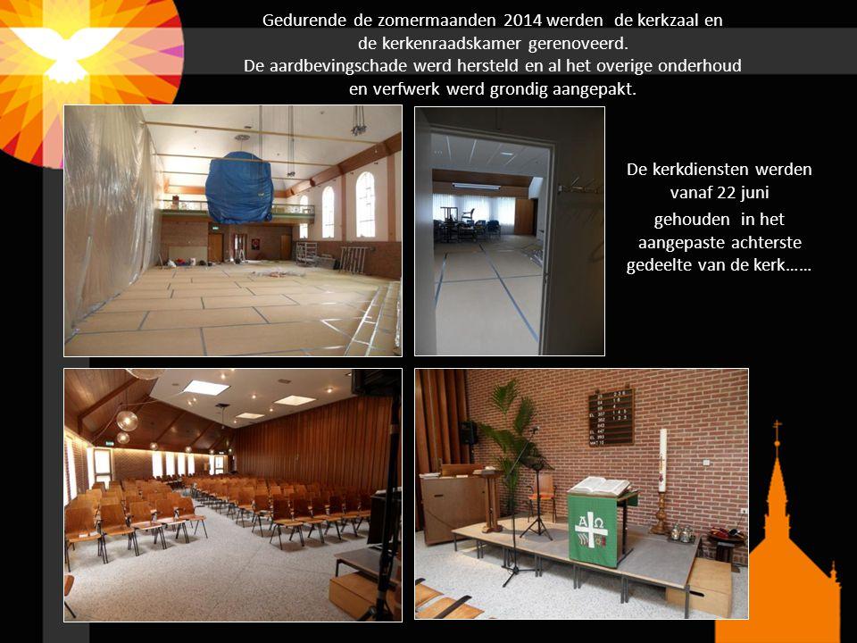 Gedurende de zomermaanden 2014 werden de kerkzaal en de kerkenraadskamer gerenoveerd. De aardbevingschade werd hersteld en al het overige onderhoud en