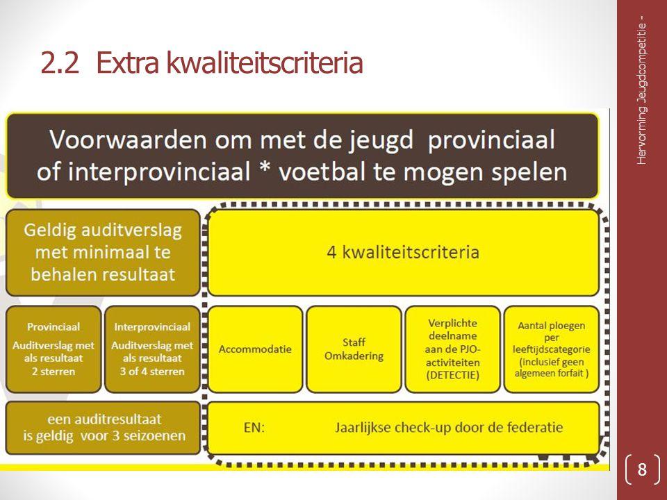 2.2 Extra kwaliteitscriteria Hervorming Jeugdcompetitie - 8