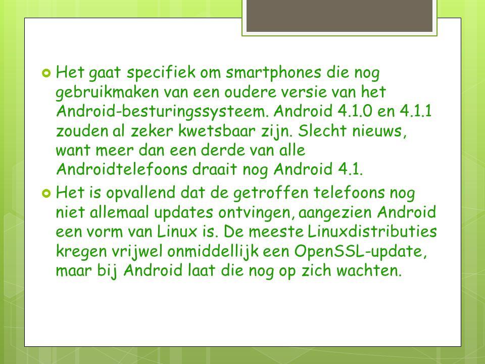  De getroffen Android-applicaties zijn niet de minste.