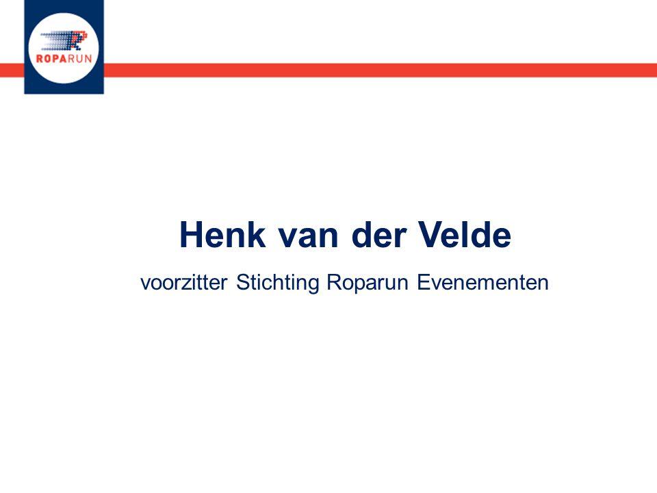 Henk van der Velde voorzitter Stichting Roparun Evenementen