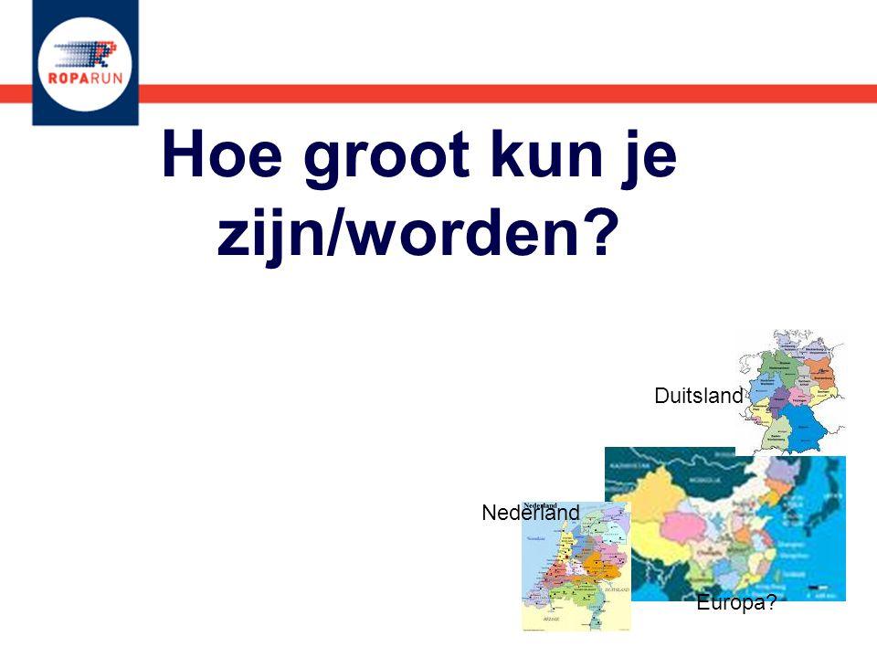 Hoe groot kun je zijn/worden? Nederland Duitsland Europa?