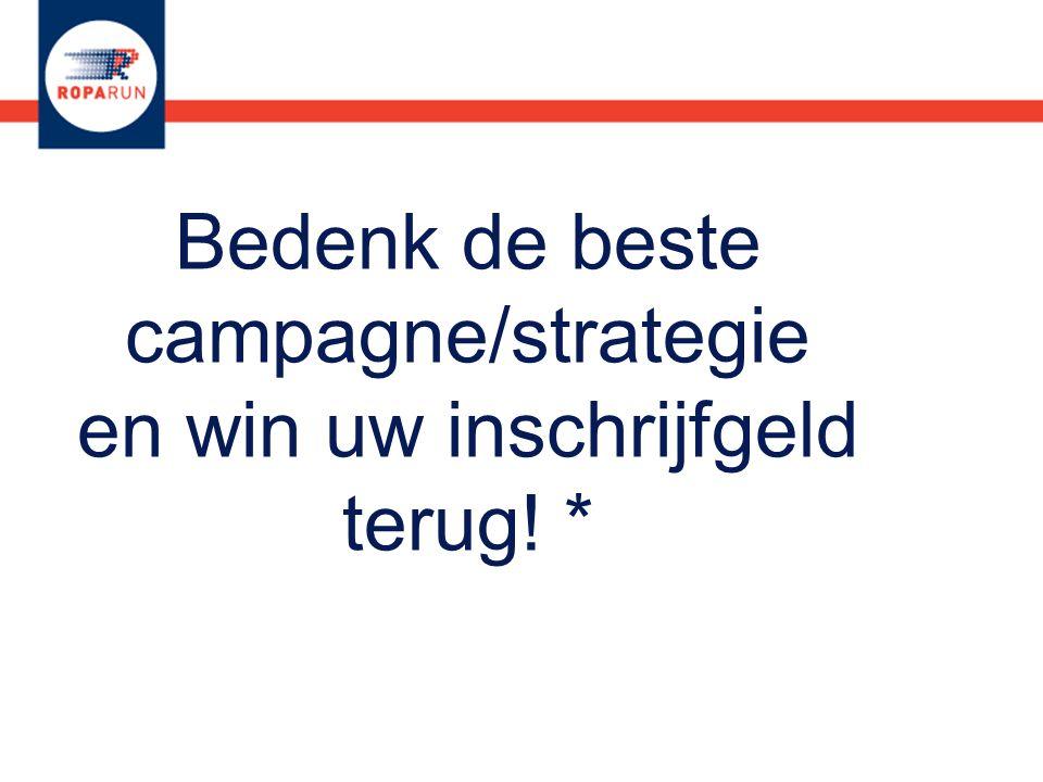 Bedenk de beste campagne/strategie en win uw inschrijfgeld terug! *