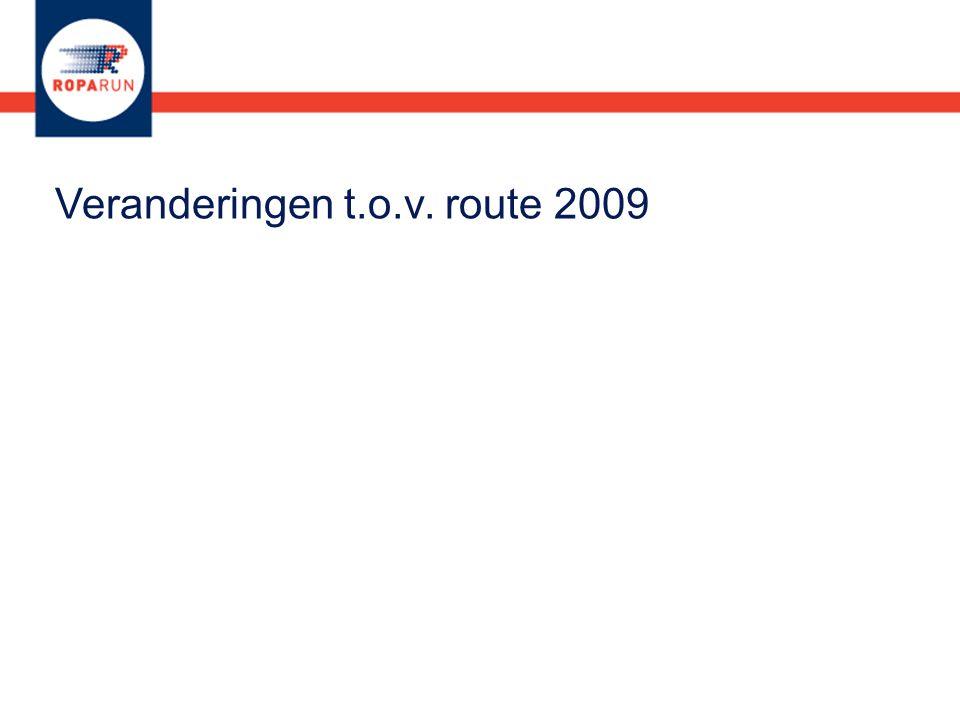 Veranderingen t.o.v. route 2009
