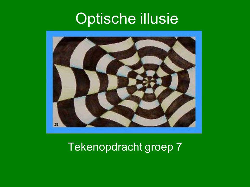 Wat.Een optische illusie is iets wat er niet is, maar wat je wel ziet.