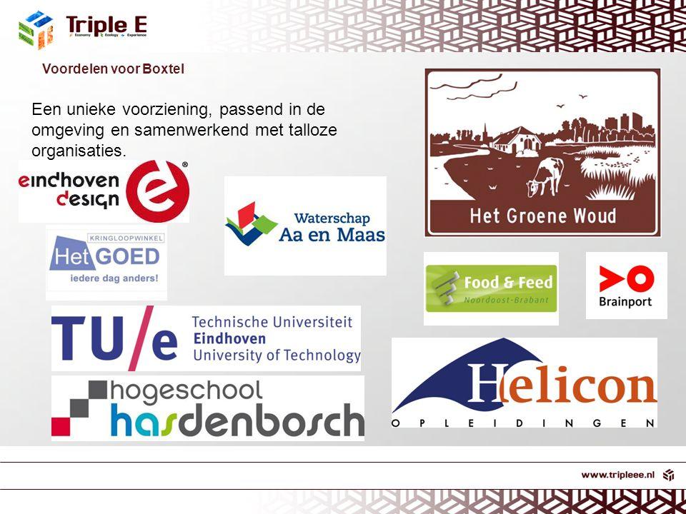 Voordelen voor Boxtel Een unieke voorziening, passend in de omgeving en samenwerkend met talloze organisaties.