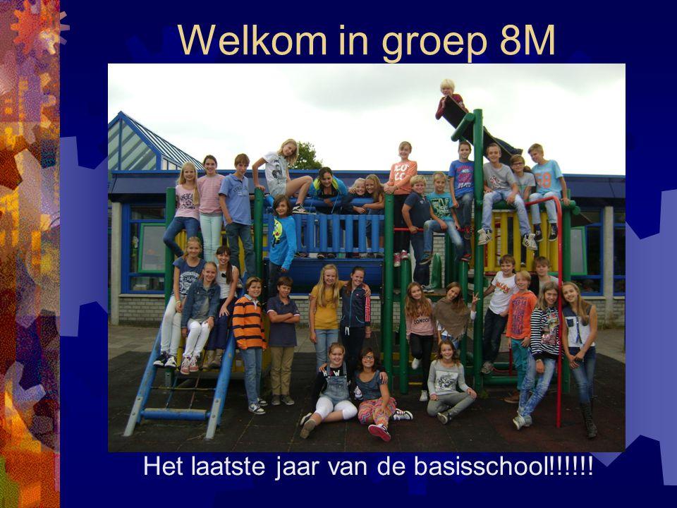 Welkom in groep 8M Het laatste jaar van de basisschool!!!!!!