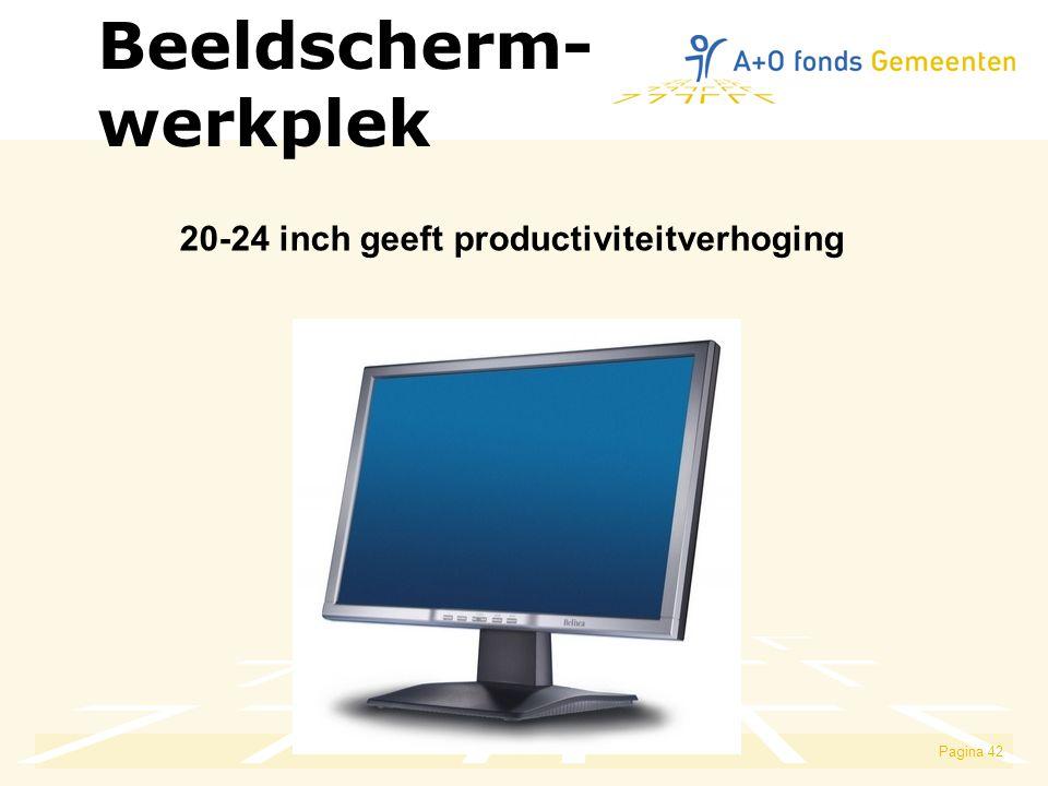 Pagina 42 20-24 inch geeft productiviteitverhoging Beeldscherm- werkplek
