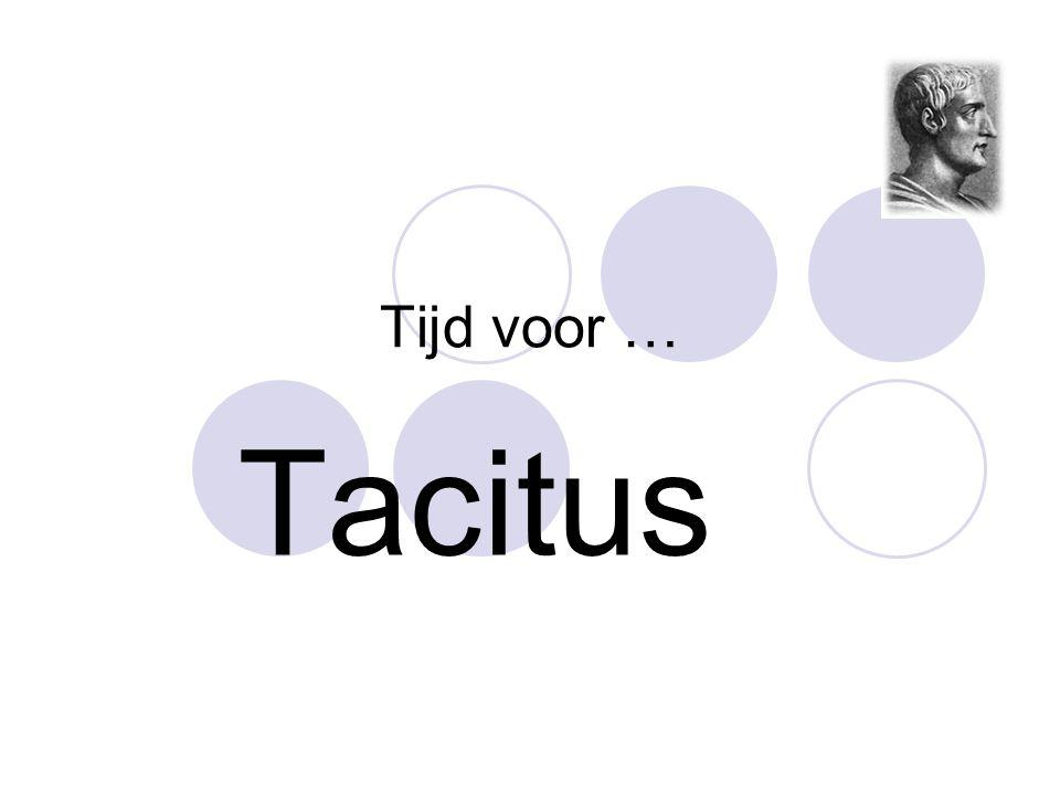 Tijd voor … Tacitus