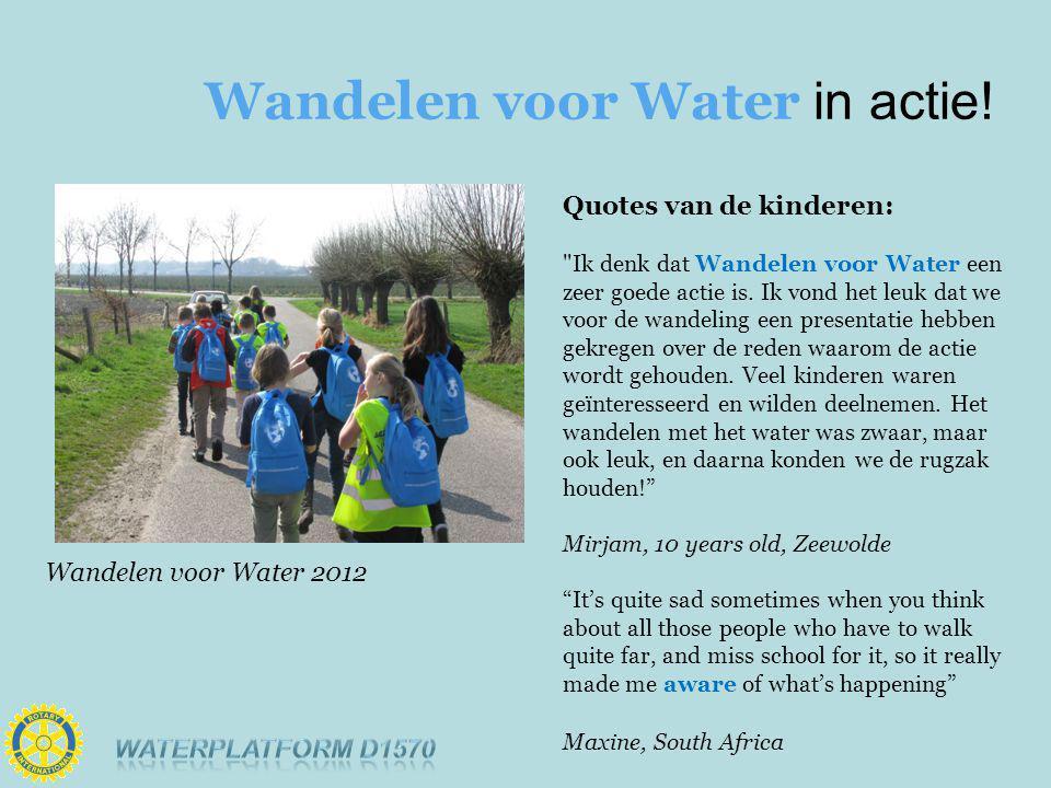 Wandelen voor Water in actie.
