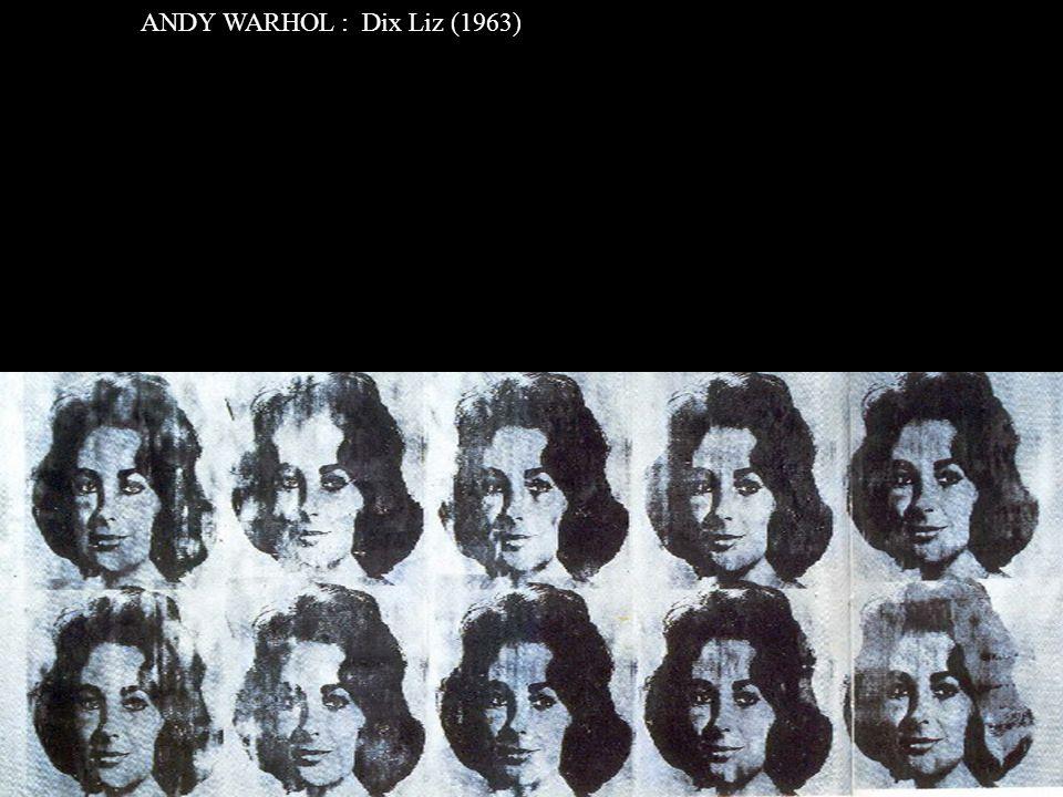ANDY WARHOL : Dix Liz (1963)