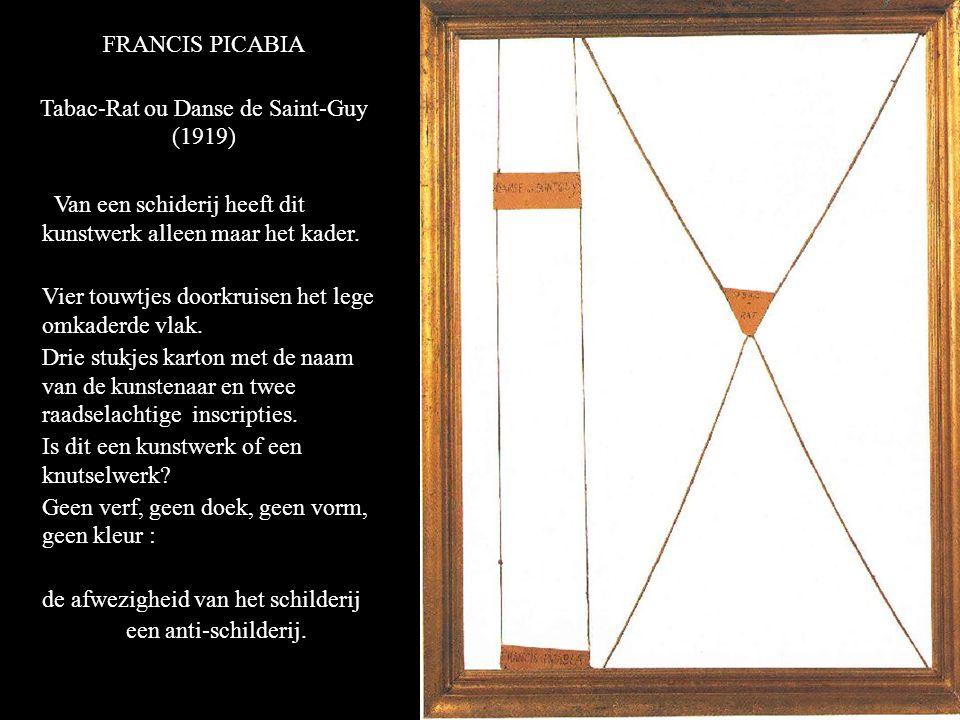 FRANCIS PICABIA Tabac-Rat ou Danse de Saint-Guy (1919) Van een schiderij heeft dit kunstwerk alleen maar het kader.