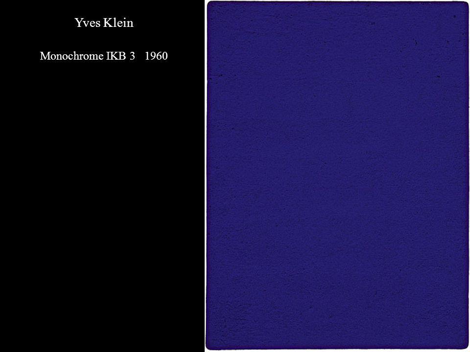 Yves Klein Monochrome IKB 3 1960