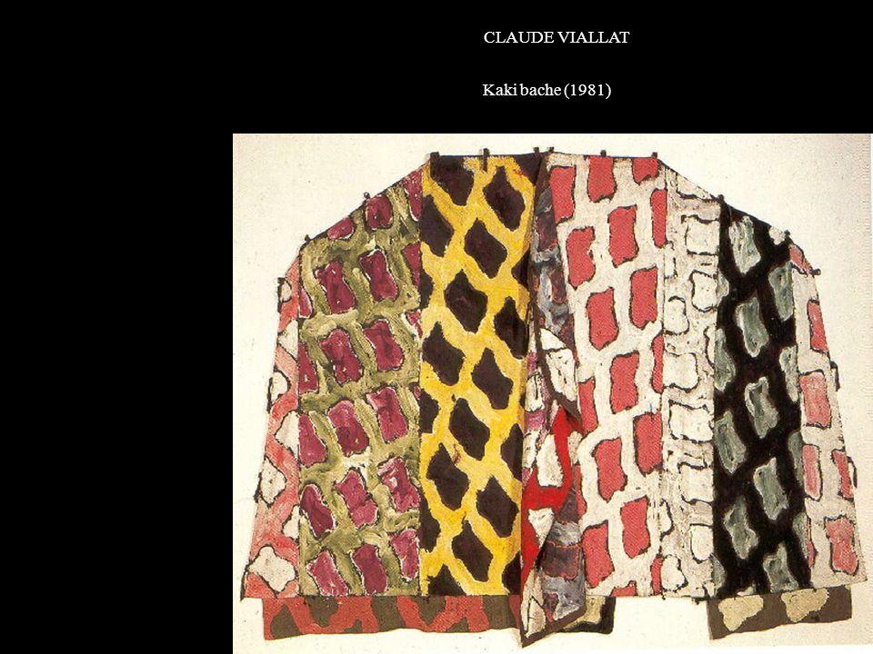 CLAUDE VIALLAT Kaki bache (1981) K