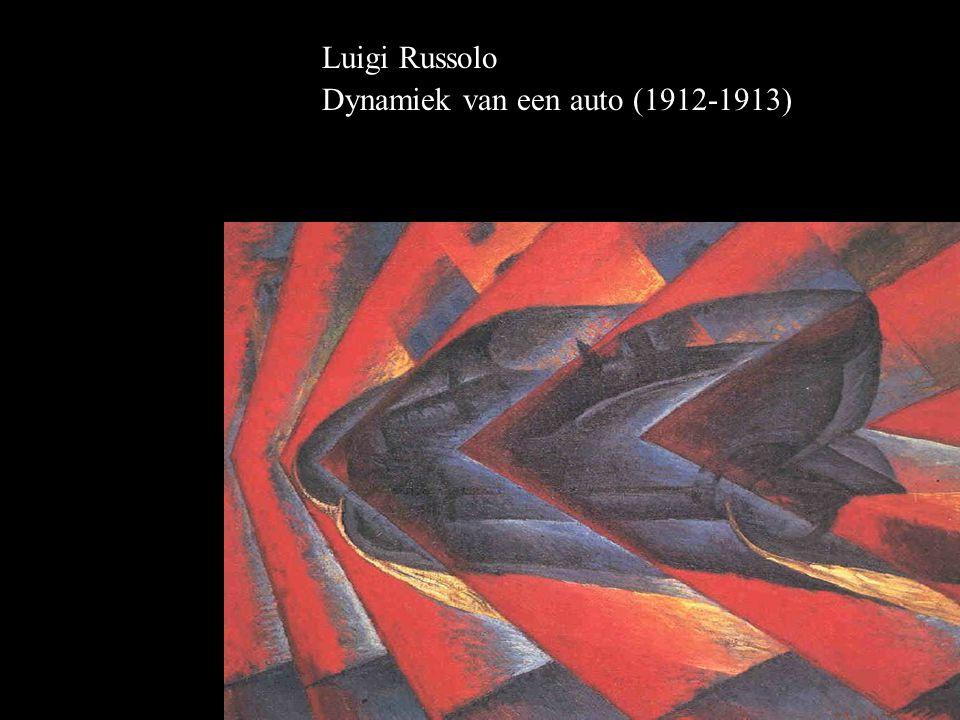 Luigi Russolo Dynamiek van een auto (1912-1913)