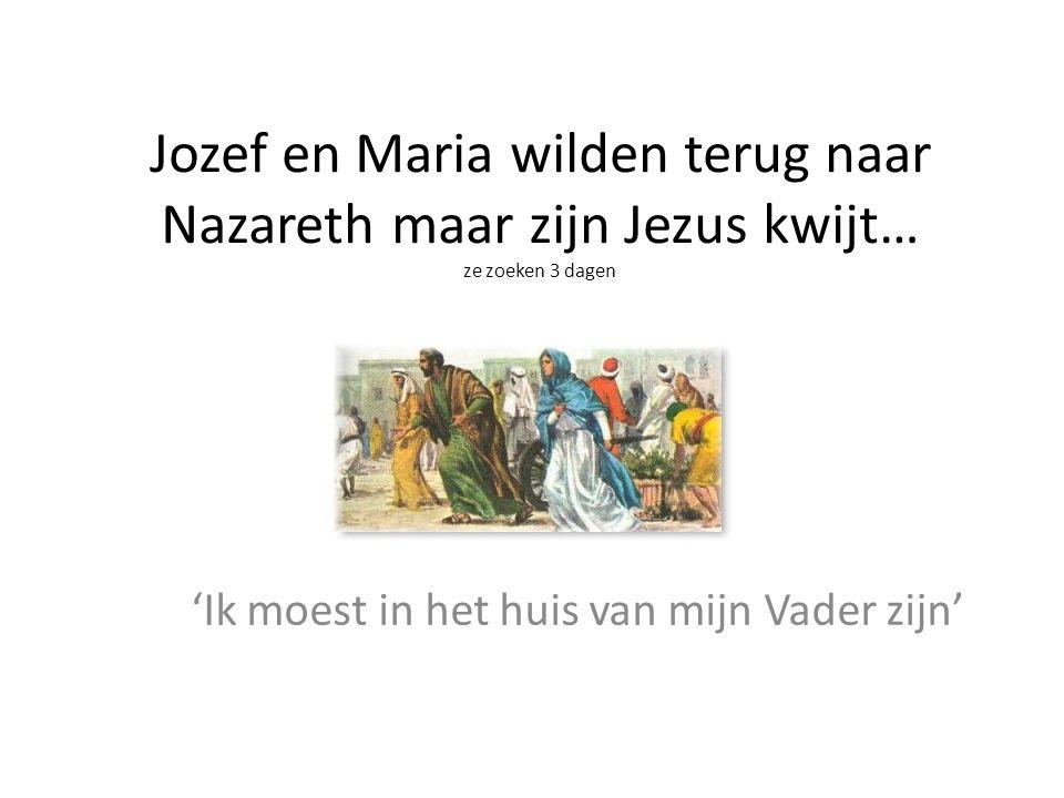 Jozef en Maria wilden terug naar Nazareth maar zijn Jezus kwijt… ze zoeken 3 dagen 'Ik moest in het huis van mijn Vader zijn'