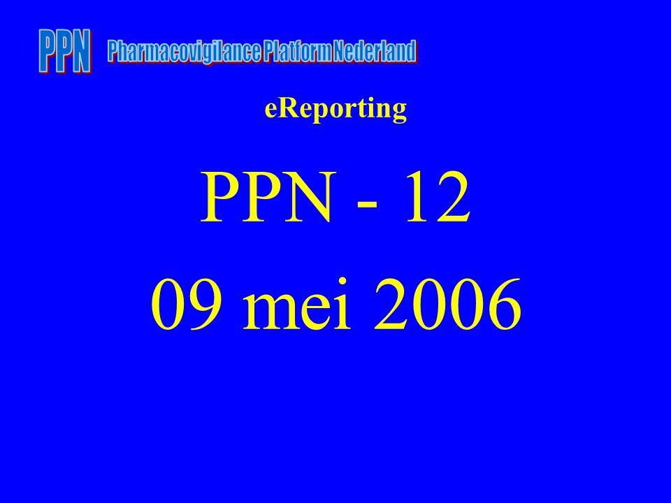 eReporting PPN - 12 09 mei 2006