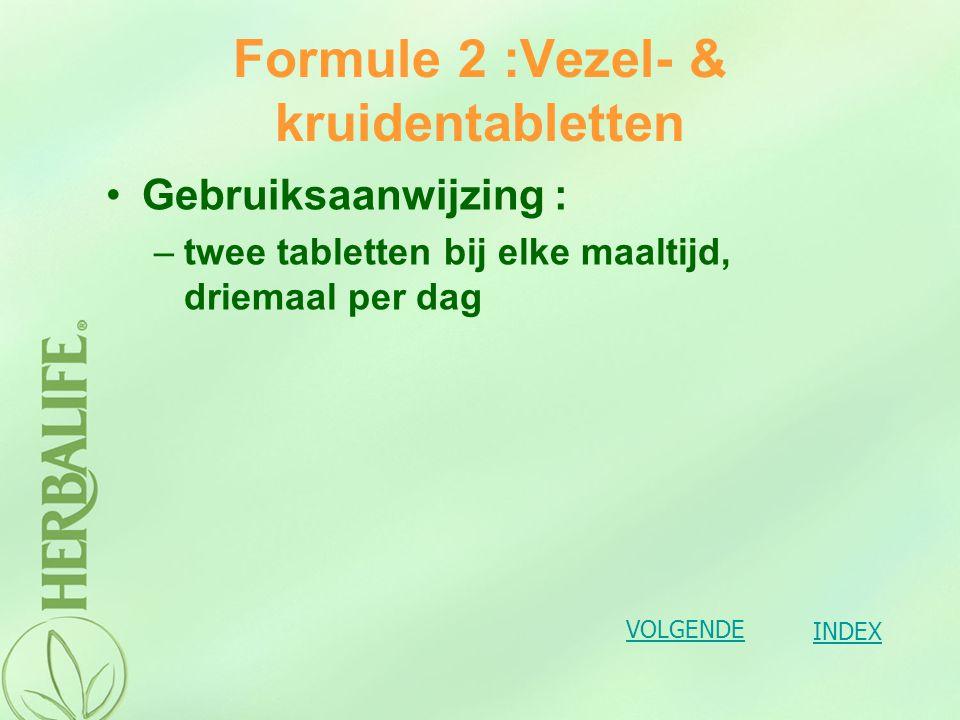 Formule 3: Vitaminen en mineralen Formule 3 tabletten bevatten vitaminen en mineralen die de levensfuncties ondersteunen en zo een blijvende bijdrage leveren aan ons welzijn.