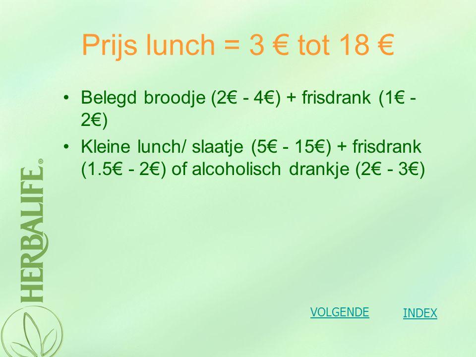 Wat is nu de prijs van zo'n advanced pakket Wel 2.67 € per maaltijd Dus per dag kost je dat 5.34 € (wat goedkoper was dan mijn lunch.