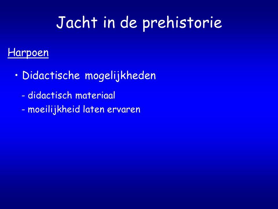Jacht in de prehistorie Harpoen Didactische mogelijkheden - didactisch materiaal - moeilijkheid laten ervaren