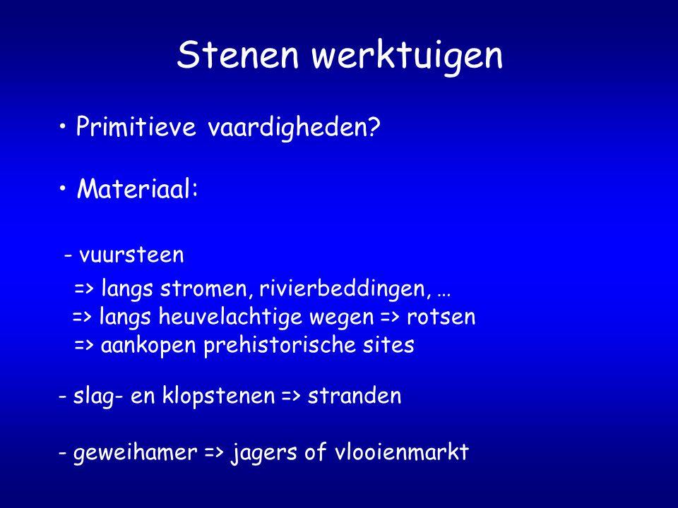 Jacht in de prehistorie Harpoen Materiaal - been of gewei Werkwijze - gewei bewerken - zaagje of frees => harpoen - harpoen polijsten