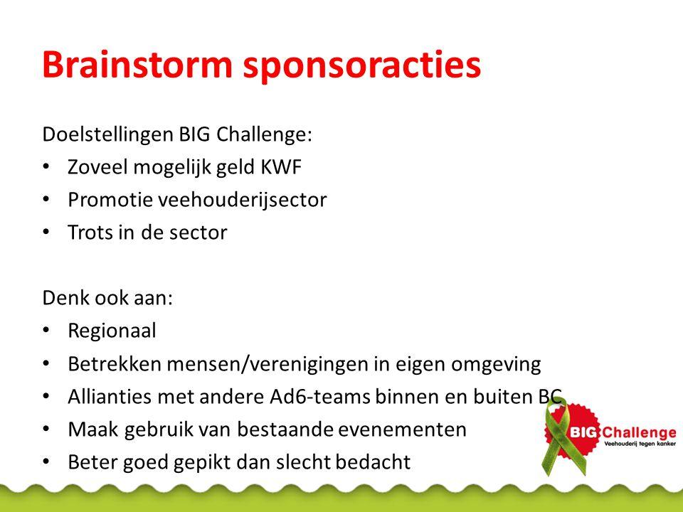 Sponsoractie BIG Challenge-4 Actie van Christel & Monique Geef sponsoren iets terug, dat werkt.