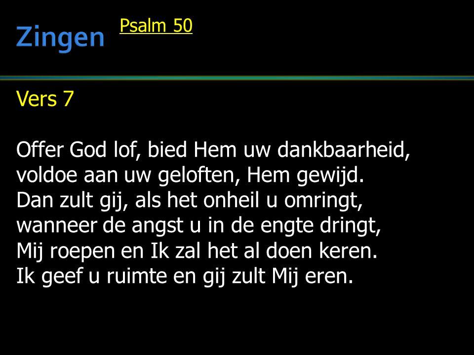 Vers 8 Maar tot de goddeloze mens spreekt God: Mijn rechten klinken in uw mond als spot.