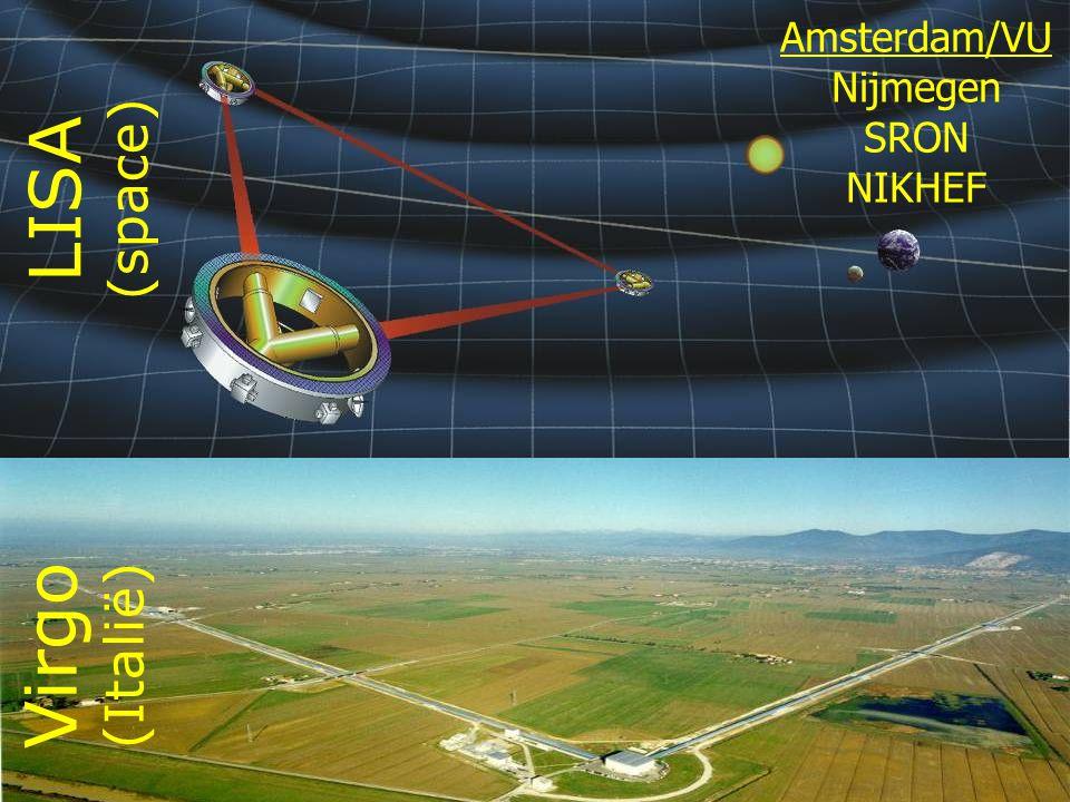 LISA (space) Amsterdam/VU Nijmegen SRON NIKHEF Virgo (Italië)
