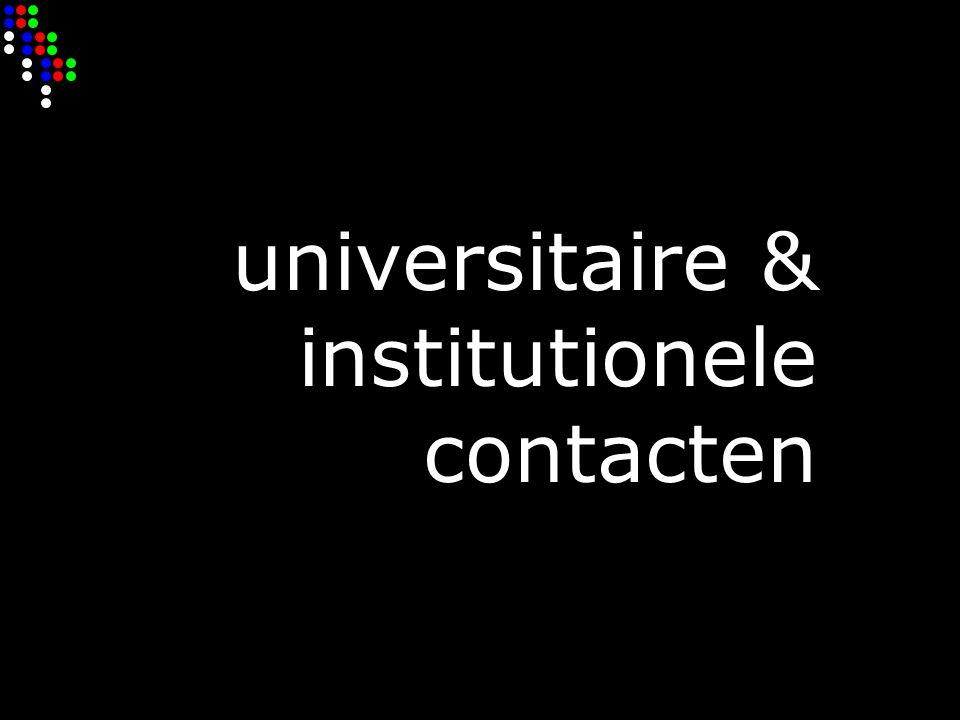 universitaire & institutionele contacten