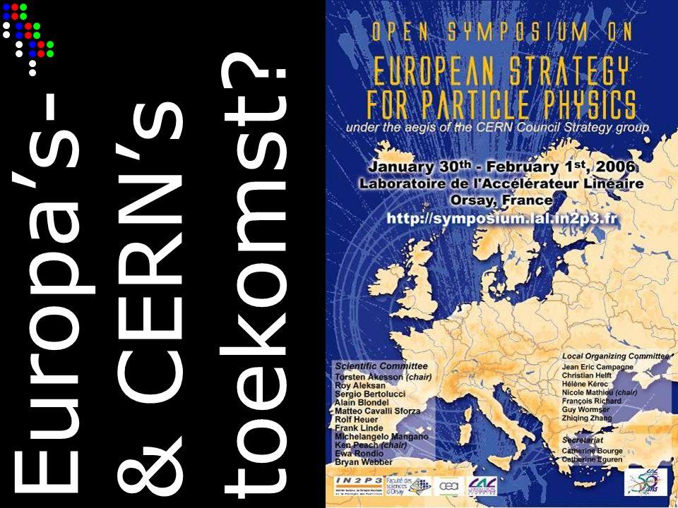 Europa's- & CERN's toekomst