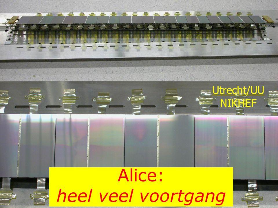 Alice: heel veel voortgang Utrecht/UU NIKHEF