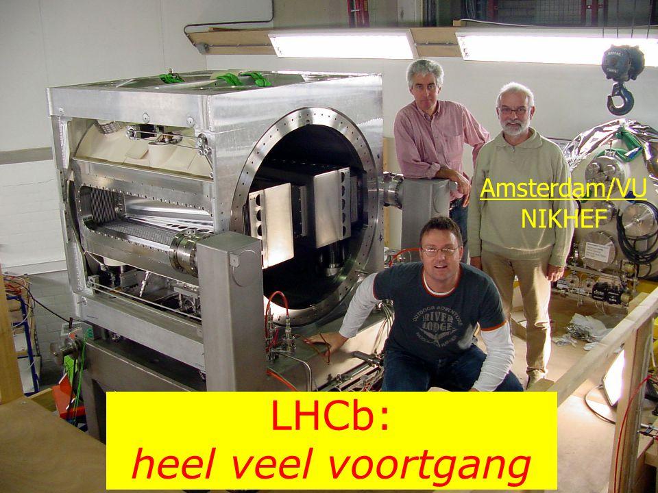 LHC exploitatie Fysica ambities: write-ups in progress Alice: besproken in september WAR Atlas: besproken in november WAR LHCb: uitgesteld (vanwege VIDI applicaties) LHC experimental upgrades 1 e discussie heeft plaatsgevonden in stafoverleg Fred Hartjes inventariseert momenteel de opties write-up beschikbaar voor de december WAR NIKHEF workshop in 1 e helft 2006