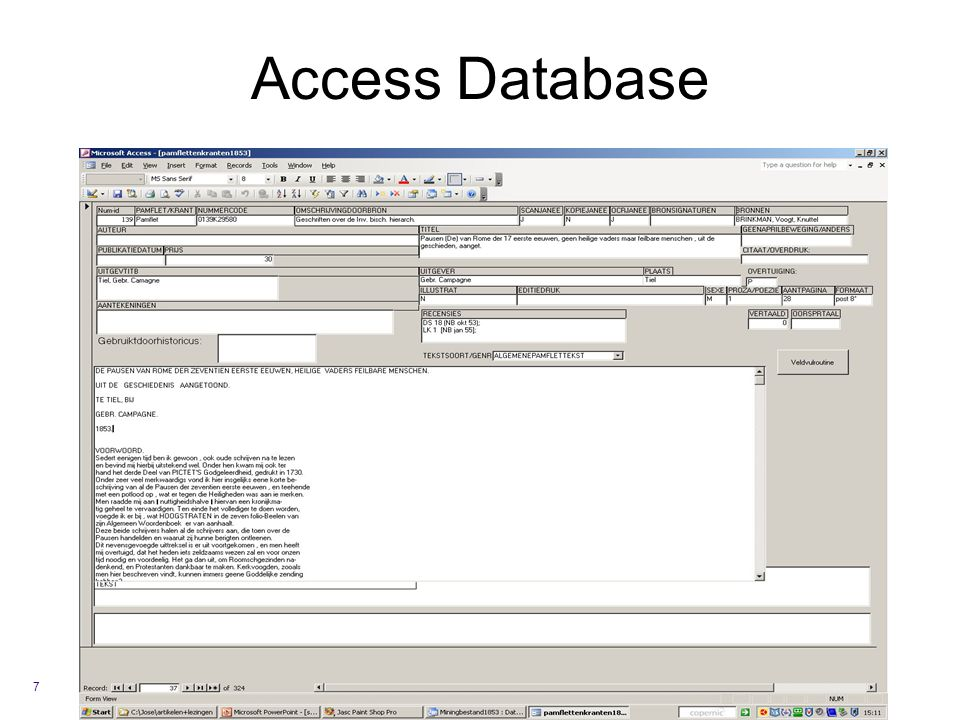 Access Database 7