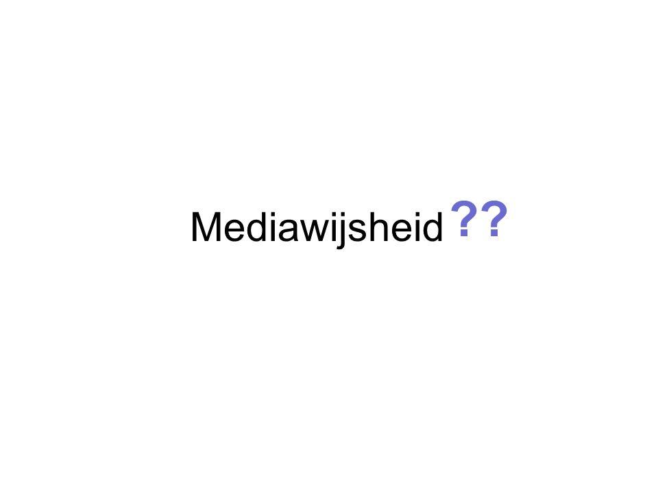 Mediawijsheid ??