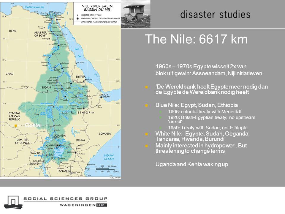 The Nile: 6617 km Oostel 1960s – 1970s Egypte wisselt 2x van blok uit gewin: Assoeandam, Nijlinitiatieven 'De Wereldbank heeft Egypte meer nodig dan d