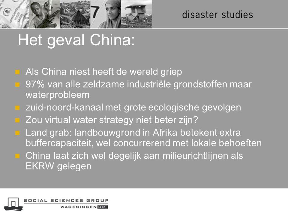 Het geval China: Als China niest heeft de wereld griep 97% van alle zeldzame industriële grondstoffen maar waterprobleem zuid-noord-kanaal met grote e