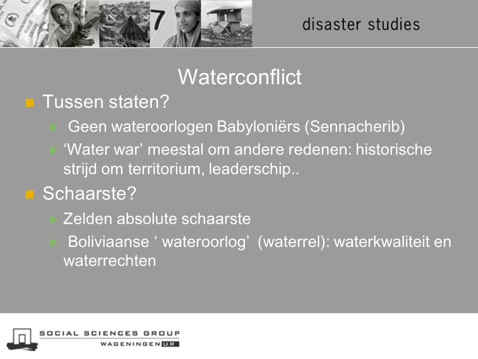 Wereldwatercrisis => Wereldvoedselcrisis? Decreased yields